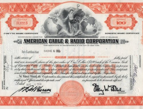 Aktie American Cable & Radio Corporation